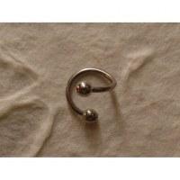Piercing gris twist boule