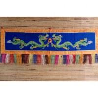 Broderie tibétaine les 2 dragons verts