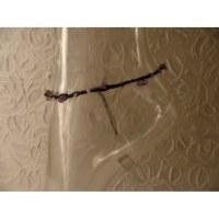 Bracelet cheville hin noir/mauve