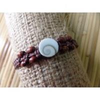 Bracelet marron oeil de Ste Lucie