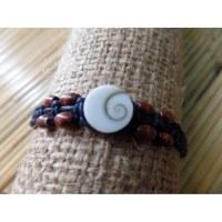 Bracelet noir oeil de Ste Lucie