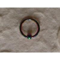 Piercing color anneau captif