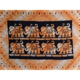 Tenture bandhani orange 8 pachy