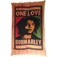 Tenture striée Bob Marley one love