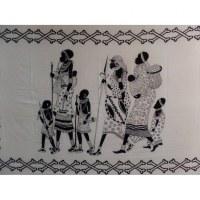 Tenture noir/blanc familles africaines