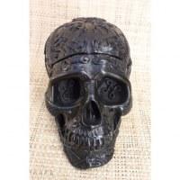 Cendrier noir crâne gravé amovible