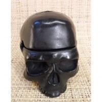 Cendrier noir crâne amovible