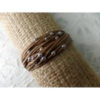 Bracelet kawat marron