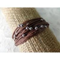 Bracelet kawat marron foncé