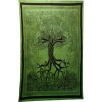 Tenture verte arbre de vie celtique