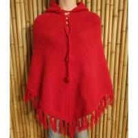 Poncho Oruro rouge