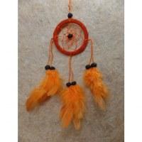 Mini capteur de rêves orange dooti II