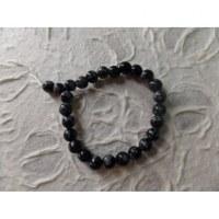 Bracelet tibétain obsidienne flocon de neige