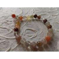 Bracelet tibétain agate rutile
