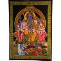 Petite tenture Ganesh en famille
