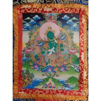Grand thangka Green Tara