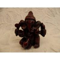 Ganesh résine assis jambe repliée