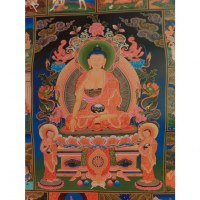 Grand thangka la vie de Bouddha