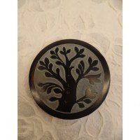 Porte encens noir/gris arbre de vie