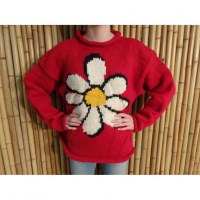Pull rouge marguerite