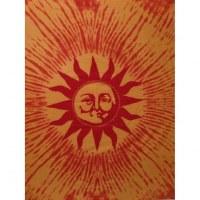 Grande tenture orange le soleil