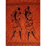 Maxi tenture orange les 2 africaines
