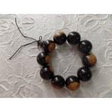 Bracelet tibétain grosses perles bicolores