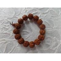 Bracelet mala perles rudraksha