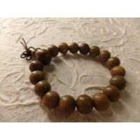 Bracelet tibétain perles en bois