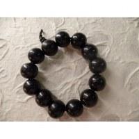 Bracelet tibétain perles noires