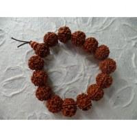 Bracelet mala perles rudraksha 2