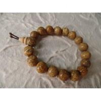 Bracelet tibétain perles mouchetées