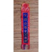 Broderie tibétaine tashi takgay bleu/rouge