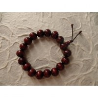 Bracelet tibétain perles rouges