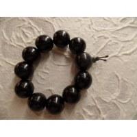 Bracelet tibétain perles cerise noire