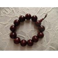 Bracelet tibétain perles cerise