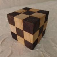 Casse-tête cube bicolore snake