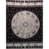 Maxi tenture astrologia écru/noir