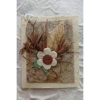 Mini carte fleur feuille verte