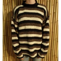 Pull Cabaray beige/noir/marron