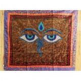Tenture noire Bouddha eyes