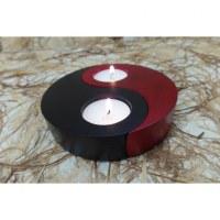 Bougeoir yin yang rouge et noir