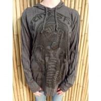 T shirt manches longues gris Ganesha