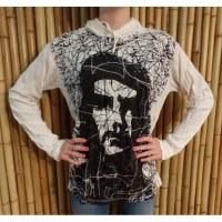T shirt manches longues Che Guevara blanc