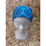 Bandeau cheveux bleu peace and love