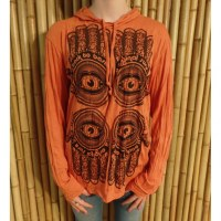 T shirt manches longues orange 4 khamsa