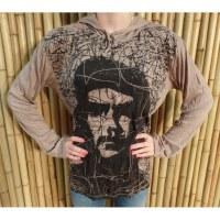 T shirt manches longues Che Guevara beige
