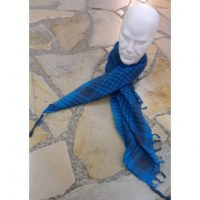 Foulard Riyad bleu vif