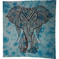 Tenture maxi Rajasthan bleu