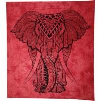 Tenture maxi Rajasthan rouge